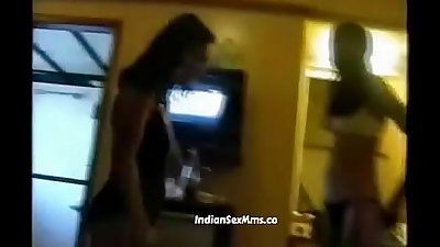 Two desi call girls from Mumbai with rich man in hotel room (new)