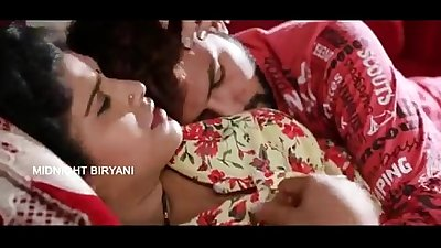 Indian Mallu Aunty porn bgrade movie with boobs press scene At Bedroom - Wowmoyback