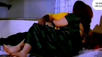 Sharmili in outdoor Bed Bosom Exposed